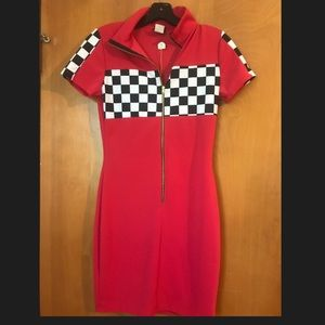 Dresses & Skirts - NWT red checkered bodycon dress